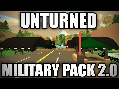Unturned Modday: Military Asset Pack (VERSION 2.0) (Hangar, Anti tank Gun, Helipad)
