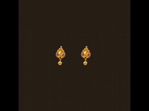 Latest Kids Small Cute Gold Earring Designs With Price