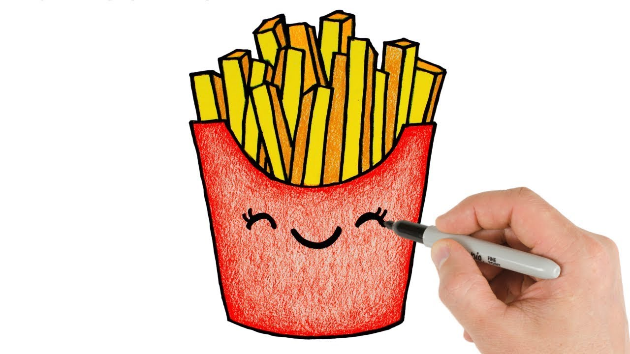How to Draw French Fries Cute and Easy Drawing for beginners - YouTube