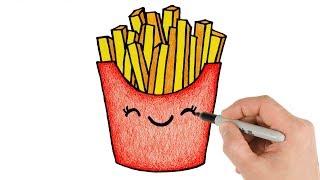 fries draw french drawings easy drawing kawaii beginners cartoon doodle