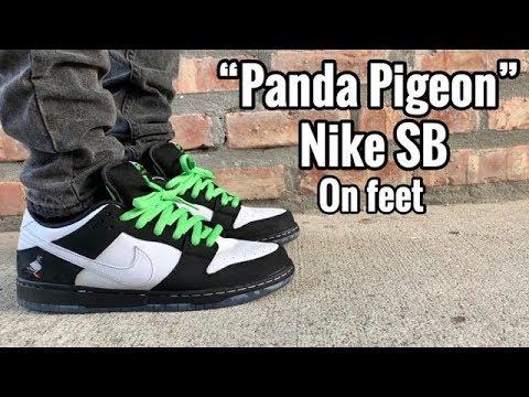 "buy popular 913ed c4a4a Nike Dunk SB ""Panda Pigeon"" on Feet"