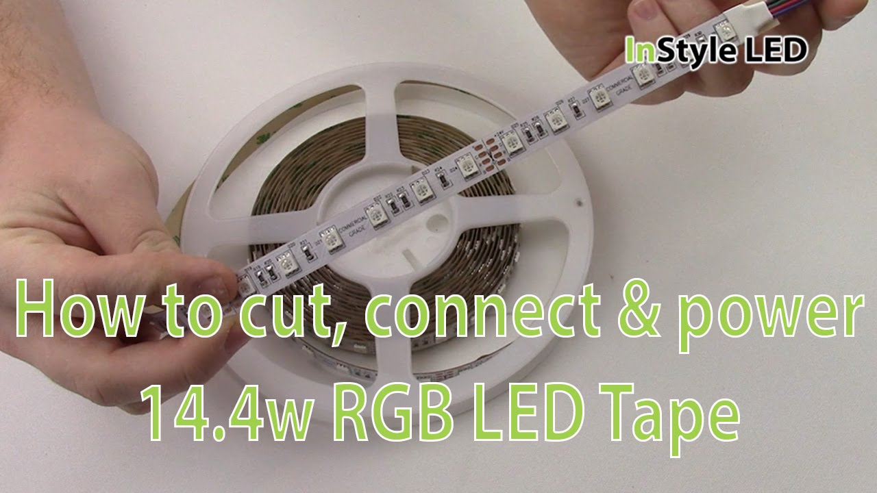 Led strip lights how to cut connect power 144w rgb led tape led strip lights how to cut connect power 144w rgb led tape youtube aloadofball Image collections