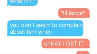 klance texting story dirty laundry