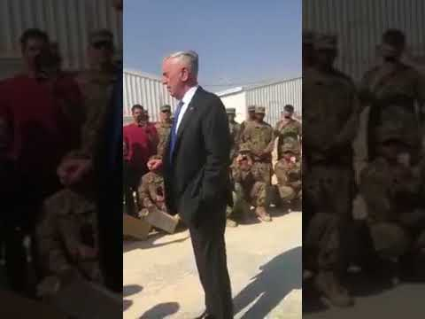 General Mattis Speaks to Troops Secretary of Defense  - Afghanistan