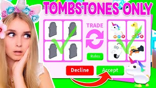TRADING TOMBSTONES ONLY In Adopt Me! (Roblox)