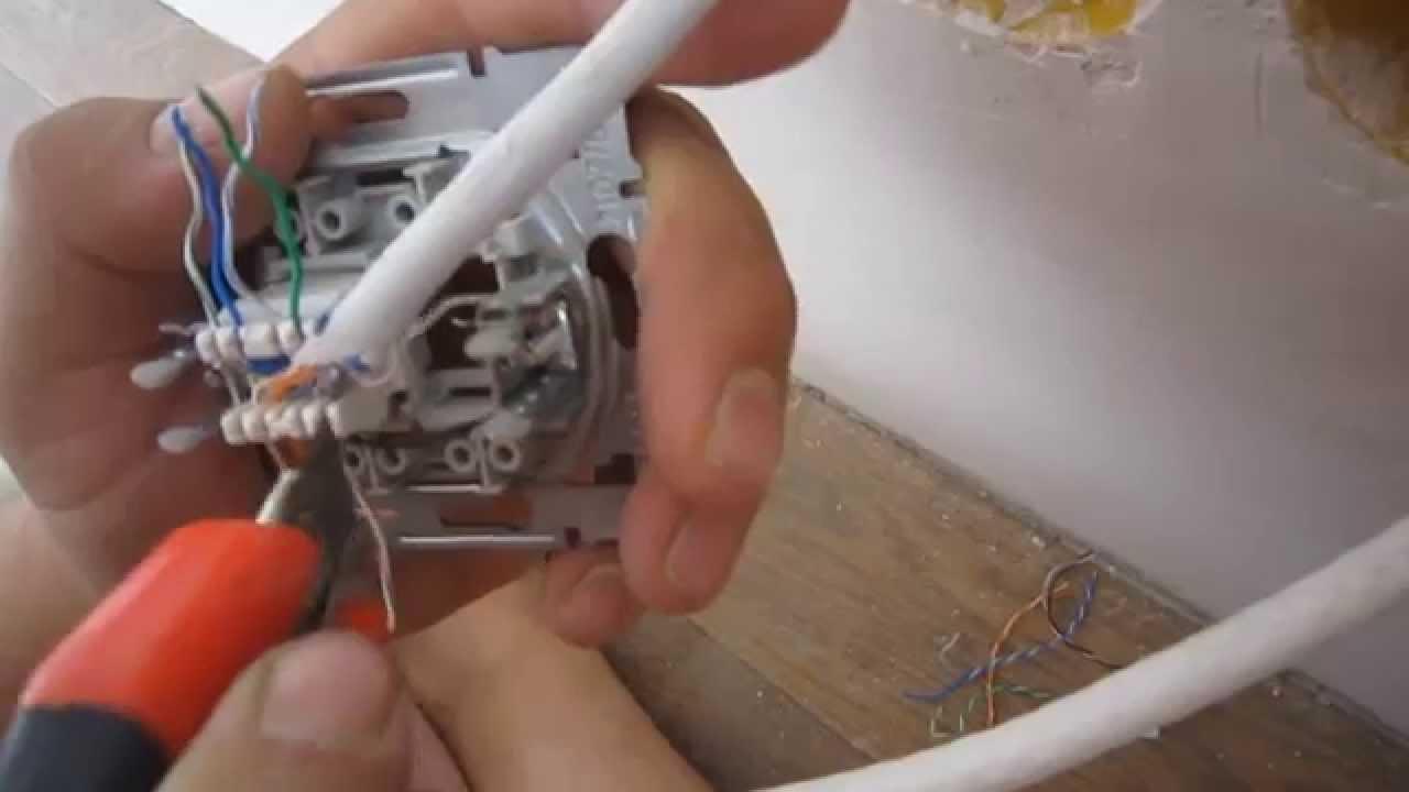 подключение интернетпровода к cat 5e схема