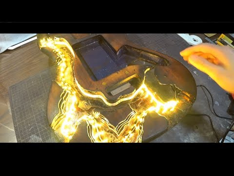 I Built  magma guitar with epoxy resin and glass.【chapter1】