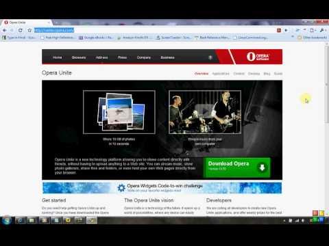 How to share files using Opera Unite