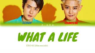 Download EXO-SC 'What a Life' lyric color coded (Han/Rom/Indo) Mp3