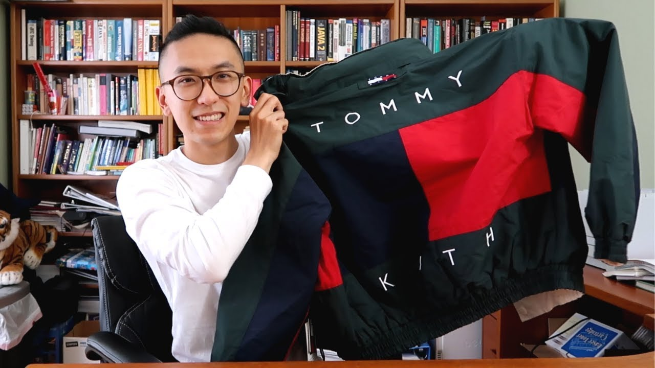 7464b936 kith x tommy hilfiger jacket unboxing and review - YouTube