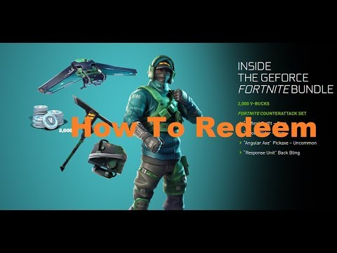 How To REDEEM The NVIDIA Fortnite Bundle | TUTORIAL