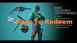 How to REDEEM the NVIDIA fortnite bundle | TUTORIAL