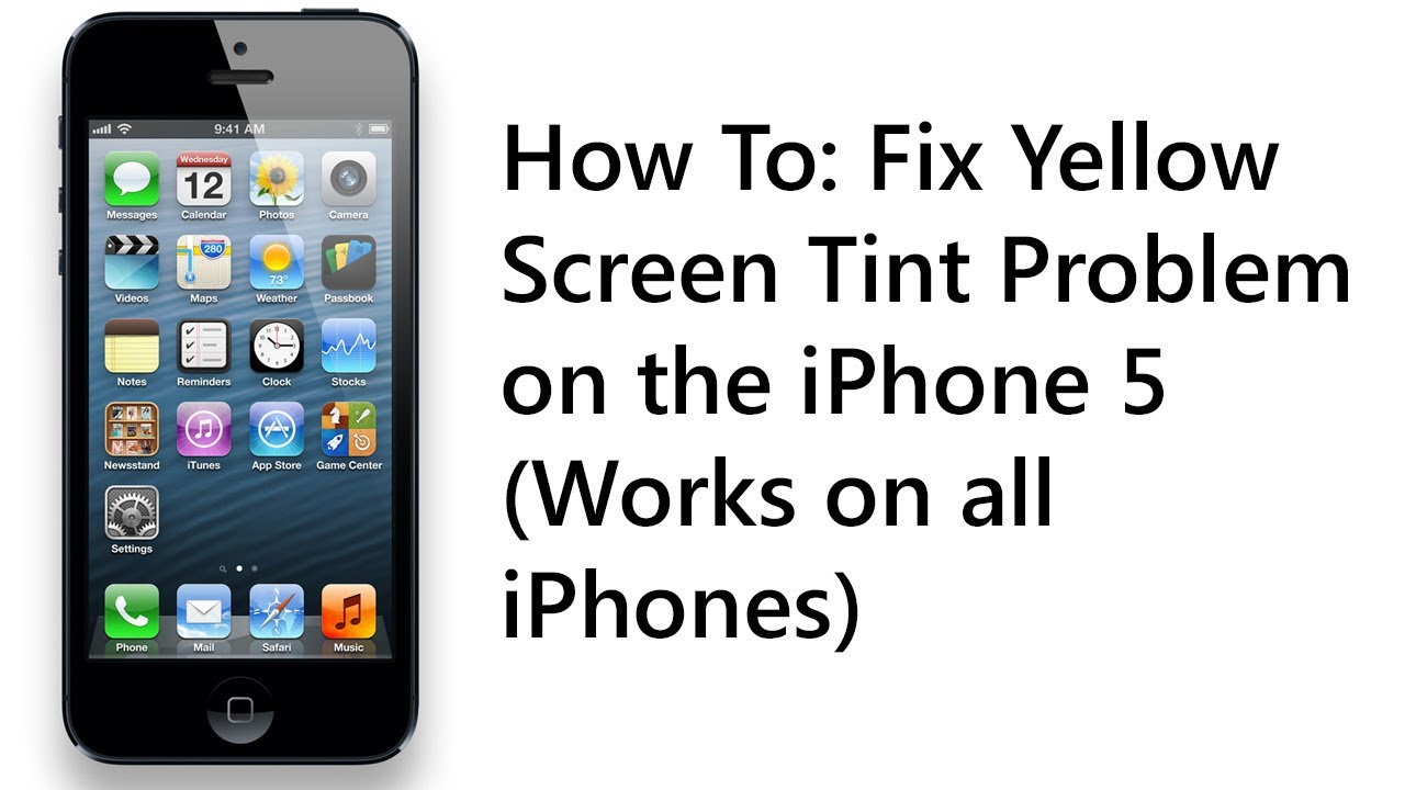 Image Result For How To Fix Iphone Yellow Screen