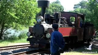 Le train à vapeur de Rillé (Indre-et-Loire) avec vues de drone