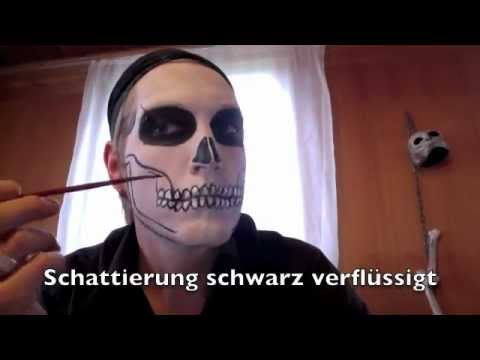 halloween totenkopf make up youtube. Black Bedroom Furniture Sets. Home Design Ideas