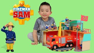 Fireman Sam Fire Station Jupiter Fire Truck Engine Toys Unboxing Fun Ckn Toys