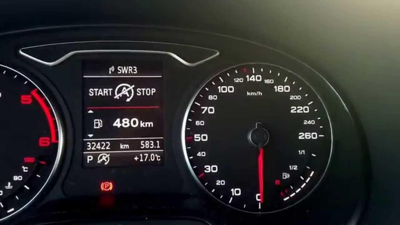 Audi A3 Tanken - steigende Tankanzeige und Reichweite - YouTube