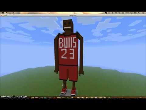 My Michael Jordan Statue in Minecraft