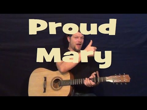 Proud Mary (CCR) Easy Guitar Strum Chords Beginner Lesson - YouTube