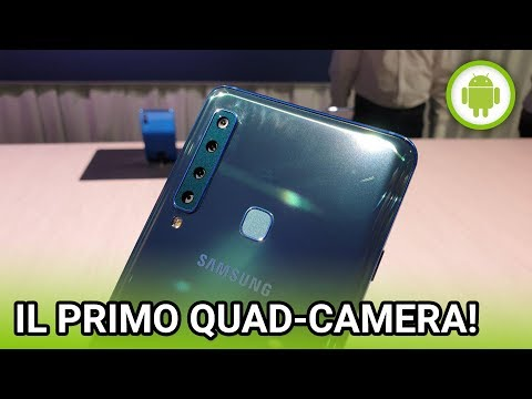 Samsung Galaxy A9 (2018), ANTEPRIMA in italiano del primo quad-camera!