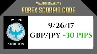 Forex Scorpio Code 9/26/17 Trade Review | +30 pips