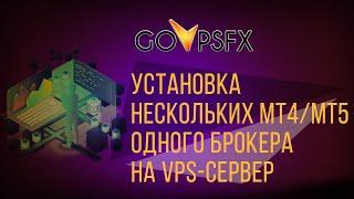 установка нескольких МТ4/MT5 одного брокера на VPS-сервер