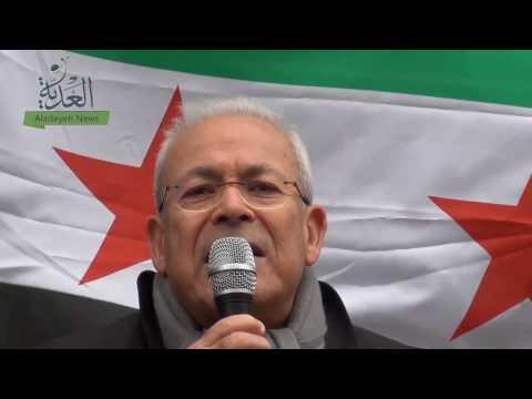 الدكتور برهان غليون في مظاهرة دورتموند : الثورة مستمرة
