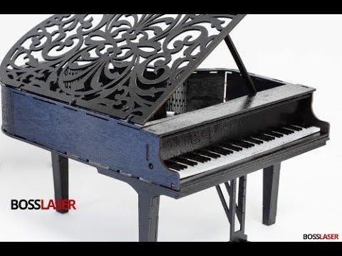 DIY Laser Cut Model Wood & Acrylic Grand Piano -  File Download