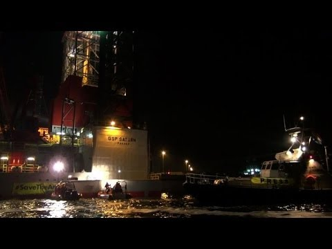Greenpeace activists arrested in Holland over drill protest