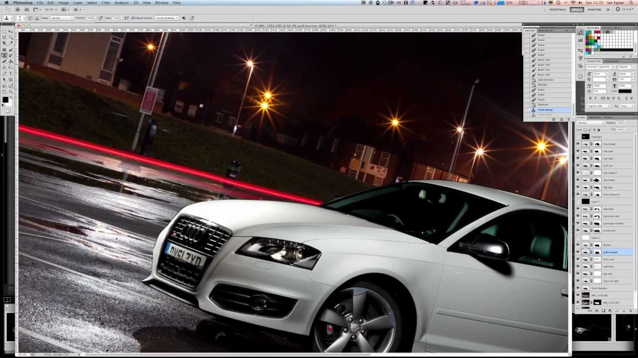 Photoshop Speed Edit Audi S3 Car Photography Youtube