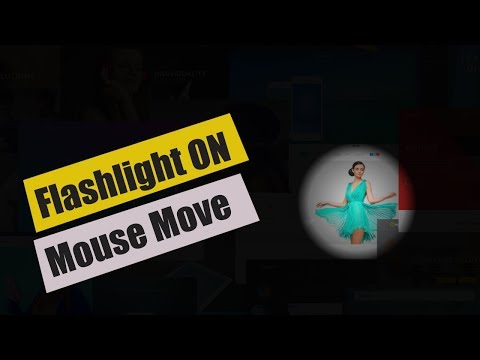 Flashlight Effect On Mousemove Very Easy - Html 5 & JQuery Tutorial