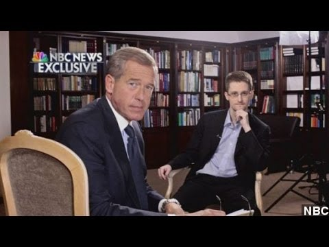 Snowden Sits Down With Brian Williams For NBC Interview