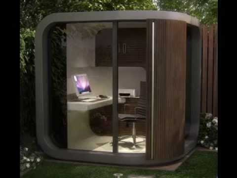 Small garden office decor ideas youtube for Garden office ideas uk