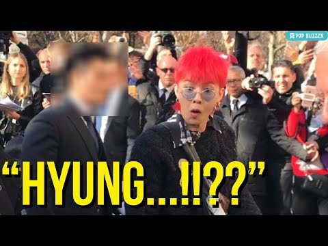 BIGBANG GDragon Shocked And Surprised By Korean Comedian Jo Se Ho At 'Chanel' Fashion Show In Paris
