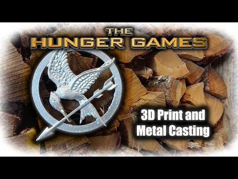 3D Printing And Casting Aluminum The Hunger Games Logo