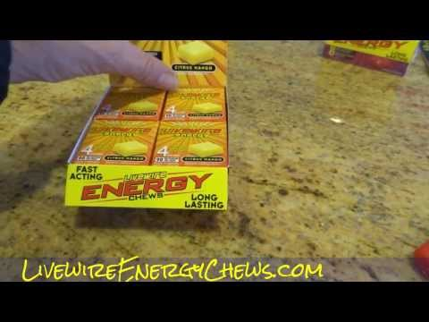 Livewire Energy Chews Citrus Mango Product Review Video