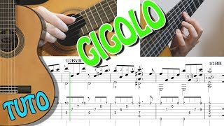 TUTO JUST A GIGOLO - GUITAR FINGERSTYLE - TABLATURE