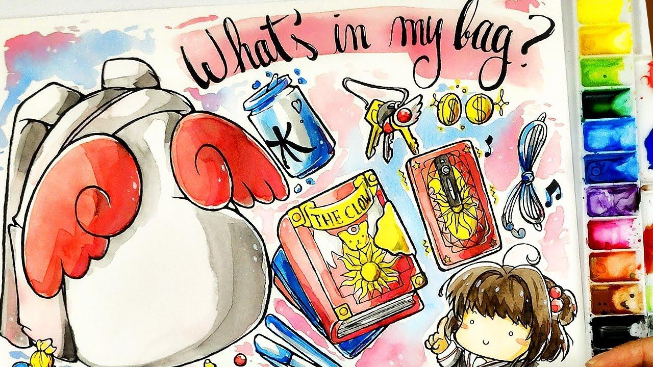 O Que Tem Na Bolsa Da Sakura Desenho Acelerado Sakura Card