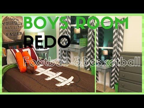 Boy's Room Revamp ~ Summer Room Re-mix   Football Theme/Closet Organization