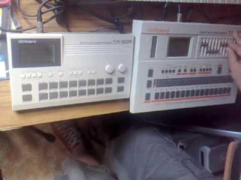 roland tr 707 505 live drum machine jam in the studio youtube. Black Bedroom Furniture Sets. Home Design Ideas