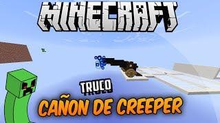 Minecraft | Cañón De Creeper Automático + Explosión