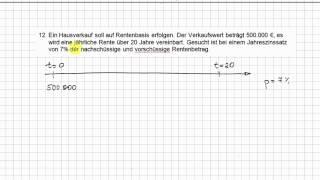 2.7 Beispiel zur Ratenzahlung  | Finanzmathematik - Wirtschaftsmathematik/Statistik