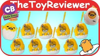 Cutie Beans Gudetama Blind Bags Plush Hangers Keychains Egg Unboxing Toy Review by TheToyReviewer