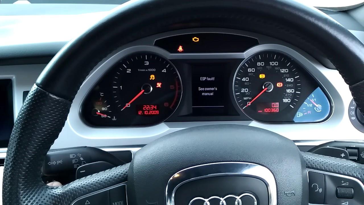 Audi A6 C6 | Esp fault | Car not starting