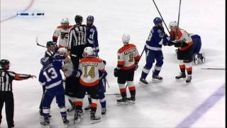 Simmonds catches unsuspecting Brown with hit to the head