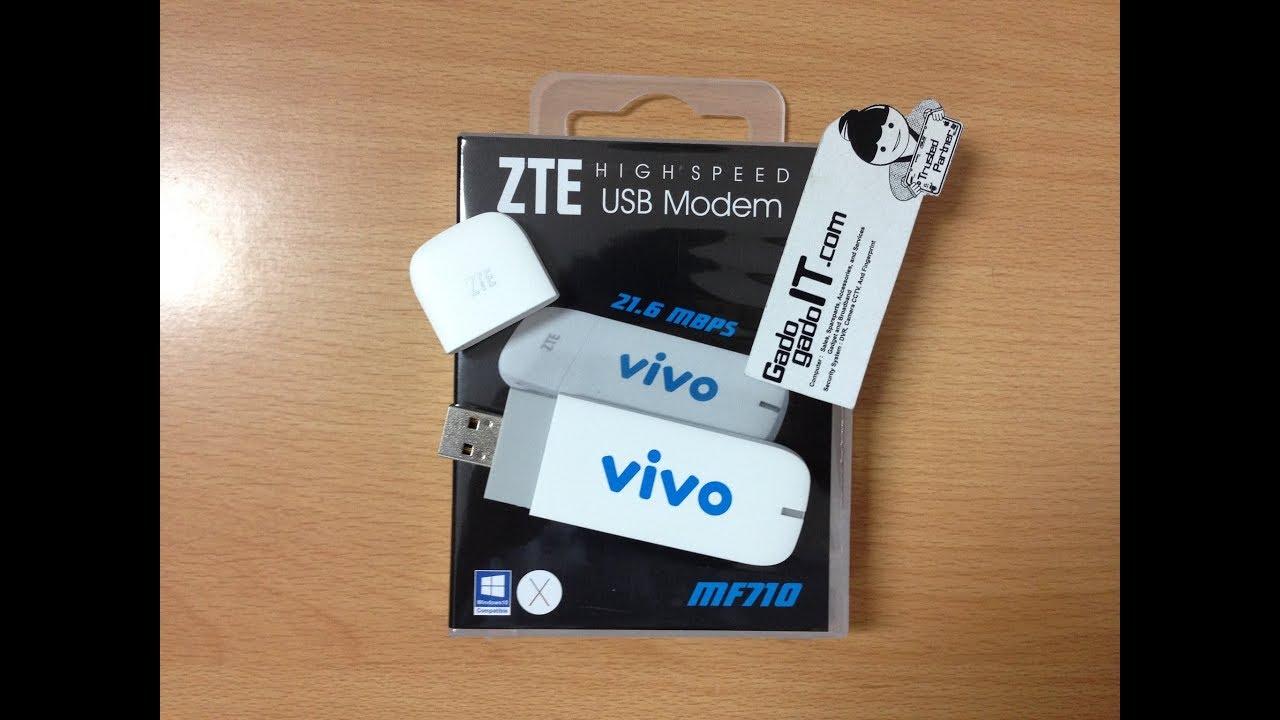 UNBOXING Modem ZTE MF710 Speed 21 6Mbps HSDPA+ (UNLOCK ALL GSM)