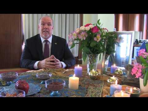 Norouz greetings from John Horgan, Leader of the B.C. New Democrats