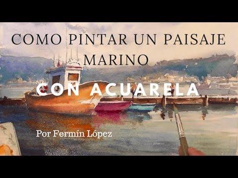 Cómo Pintar con Acuarela Una Marina