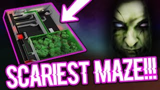 THE SCARIEST MAZE IN ROBLOX BLOXBURG!!! (SCARY VOICES!!!)