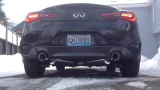 2017 infiniti q60 red sport fast intentions lower downpipes and cat back